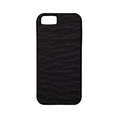 Black Pattern Sand Surface Texture Apple Iphone 5 Classic Hardshell Case (pc+silicone)