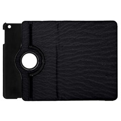 Black Pattern Sand Surface Texture Apple Ipad Mini Flip 360 Case