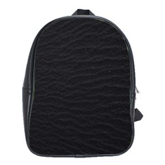 Black Pattern Sand Surface Texture School Bags (xl)
