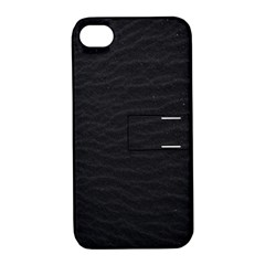 Black Pattern Sand Surface Texture Apple Iphone 4/4s Hardshell Case With Stand