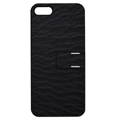 Black Pattern Sand Surface Texture Apple Iphone 5 Hardshell Case With Stand