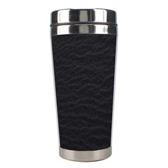 Black Pattern Sand Surface Texture Stainless Steel Travel Tumblers