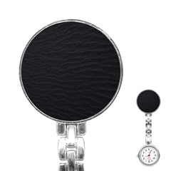 Black Pattern Sand Surface Texture Stainless Steel Nurses Watch