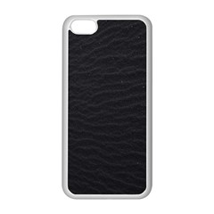 Black Pattern Sand Surface Texture Apple Iphone 5c Seamless Case (white)