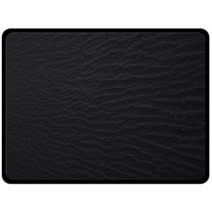 Black Pattern Sand Surface Texture Double Sided Fleece Blanket (large)