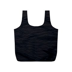 Black Pattern Sand Surface Texture Full Print Recycle Bags (s)