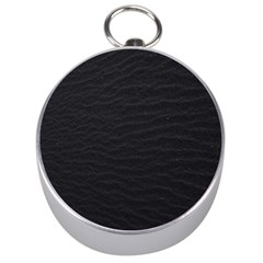 Black Pattern Sand Surface Texture Silver Compasses