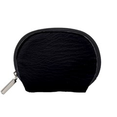 Black Pattern Sand Surface Texture Accessory Pouches (small)