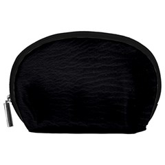 Black Pattern Sand Surface Texture Accessory Pouches (large)