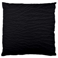 Black Pattern Sand Surface Texture Large Flano Cushion Case (one Side)
