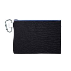 Black Pattern Sand Surface Texture Canvas Cosmetic Bag (m)