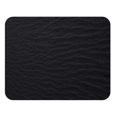 Black Pattern Sand Surface Texture Double Sided Flano Blanket (large)