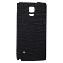 Black Pattern Sand Surface Texture Galaxy Note 4 Back Case