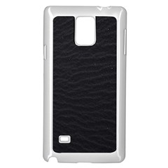 Black Pattern Sand Surface Texture Samsung Galaxy Note 4 Case (white)