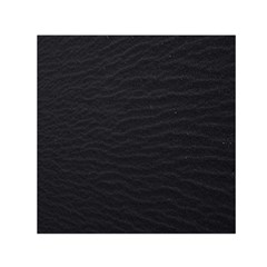 Black Pattern Sand Surface Texture Small Satin Scarf (square)