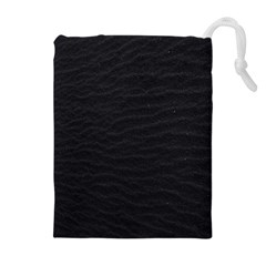 Black Pattern Sand Surface Texture Drawstring Pouches (extra Large)