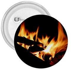 Bonfire Wood Night Hot Flame Heat 3  Buttons