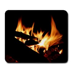 Bonfire Wood Night Hot Flame Heat Large Mousepads