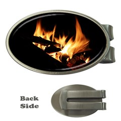 Bonfire Wood Night Hot Flame Heat Money Clips (oval)