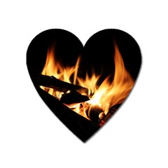 Bonfire Wood Night Hot Flame Heat Heart Magnet