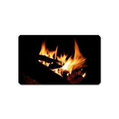 Bonfire Wood Night Hot Flame Heat Magnet (Name Card)