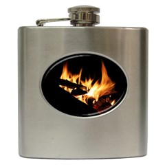 Bonfire Wood Night Hot Flame Heat Hip Flask (6 oz)