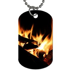 Bonfire Wood Night Hot Flame Heat Dog Tag (two Sides)