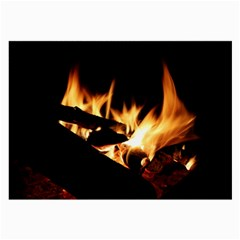 Bonfire Wood Night Hot Flame Heat Large Glasses Cloth