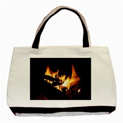 Bonfire Wood Night Hot Flame Heat Basic Tote Bag (two Sides)