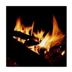 Bonfire Wood Night Hot Flame Heat Face Towel