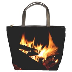 Bonfire Wood Night Hot Flame Heat Bucket Bags