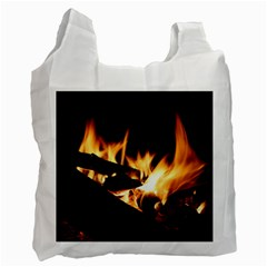 Bonfire Wood Night Hot Flame Heat Recycle Bag (one Side)