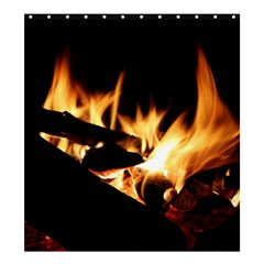 Bonfire Wood Night Hot Flame Heat Shower Curtain 66  X 72  (large)