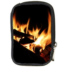 Bonfire Wood Night Hot Flame Heat Compact Camera Cases