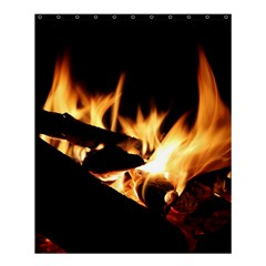 Bonfire Wood Night Hot Flame Heat Shower Curtain 60  X 72  (medium)