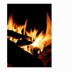 Bonfire Wood Night Hot Flame Heat Large Garden Flag (two Sides)
