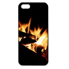 Bonfire Wood Night Hot Flame Heat Apple Iphone 5 Seamless Case (black)