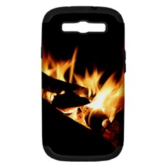 Bonfire Wood Night Hot Flame Heat Samsung Galaxy S Iii Hardshell Case (pc+silicone)