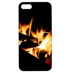Bonfire Wood Night Hot Flame Heat Apple Iphone 5 Hardshell Case With Stand