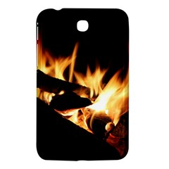 Bonfire Wood Night Hot Flame Heat Samsung Galaxy Tab 3 (7 ) P3200 Hardshell Case