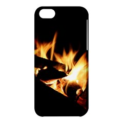 Bonfire Wood Night Hot Flame Heat Apple Iphone 5c Hardshell Case