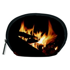 Bonfire Wood Night Hot Flame Heat Accessory Pouches (medium)