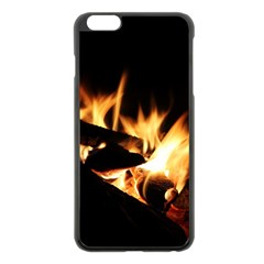 Bonfire Wood Night Hot Flame Heat Apple Iphone 6 Plus/6s Plus Black Enamel Case