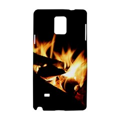 Bonfire Wood Night Hot Flame Heat Samsung Galaxy Note 4 Hardshell Case
