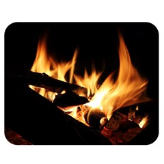 Bonfire Wood Night Hot Flame Heat Double Sided Flano Blanket (medium)
