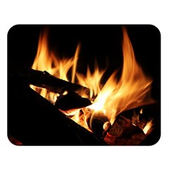 Bonfire Wood Night Hot Flame Heat Double Sided Flano Blanket (large)