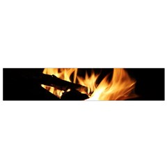 Bonfire Wood Night Hot Flame Heat Flano Scarf (small)
