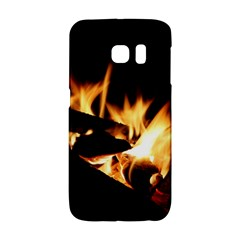 Bonfire Wood Night Hot Flame Heat Galaxy S6 Edge