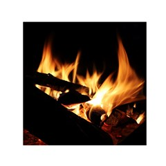 Bonfire Wood Night Hot Flame Heat Small Satin Scarf (square)