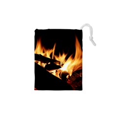 Bonfire Wood Night Hot Flame Heat Drawstring Pouches (xs)